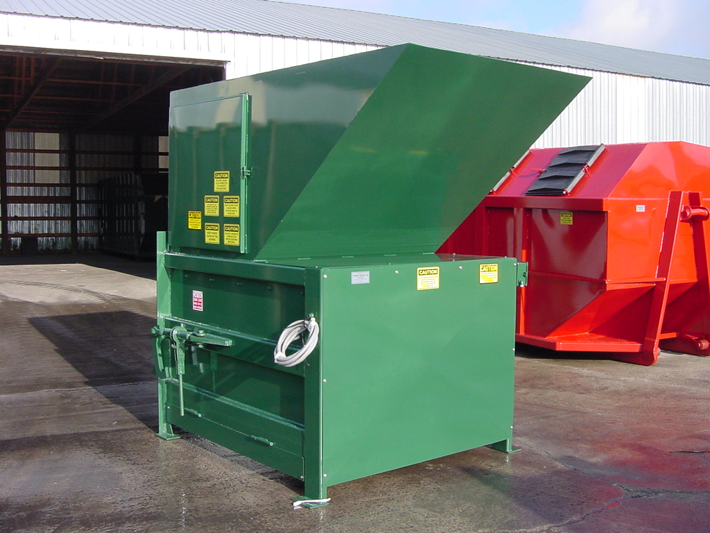 stationary compactors for the waste management industry