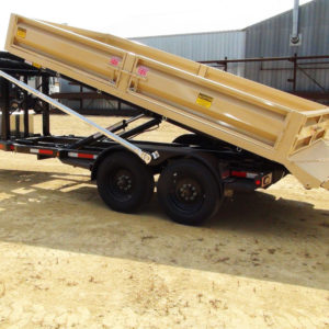 Roll off flatbed trailer