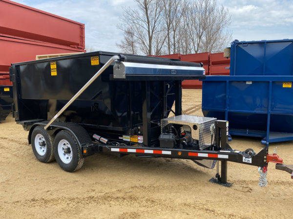 roll-off trailer with tarping system
